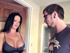 MILF Maya fucks her young neighbor