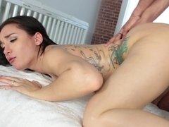 BBC ass fucking for slutty tattooed girl Gabriela Paltrova