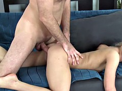 Blonde prefers to be doggystyled hard and that's what she gets during audition