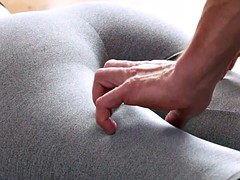 Yoga teacher relaxed and fucked babe
