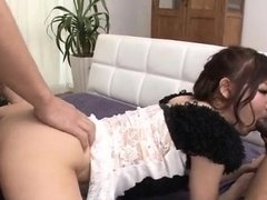 Yurika Miyachi, Asian maid, fucked until exhaustion