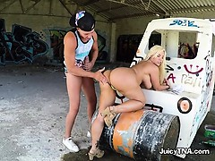 Luscious Chick Blondie Fesser Bends Over For Big Cock