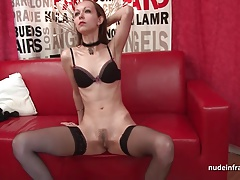 Anal casting couch of a sublime skinny french brunette