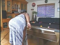 Adult bbw On The Pool Table