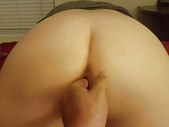 Huge anal dildo and ass fisting