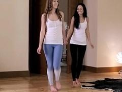 18yo teens Alexis and Nikita share a purple pole