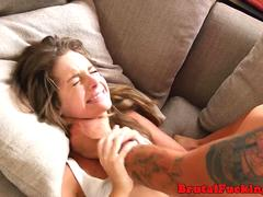 Gorgeous petite hardfucked by her stepbro