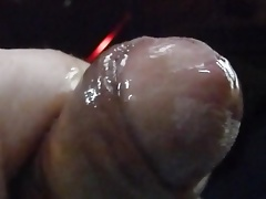 Big mess in close-up - wet cock is cumming