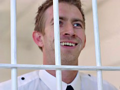 Huge juggs prisoner analyzed by officer