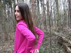 Elle Rose In Sexy jogger fucked in the woods