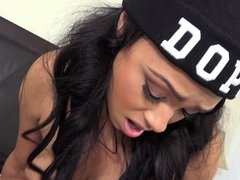 Babe Bethany Benz with cool hat gets fucked well
