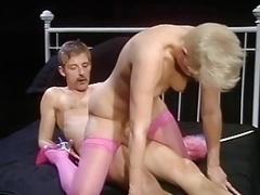 Short Hair, Pink Stockings