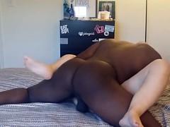 Big Assed White girl vs Big Black Cock