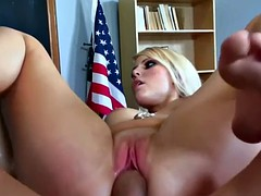 Teen Vanessa takes dick from an older guy