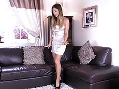 shiny dress pantyhose gold nails