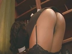 Horny maid getting down and dirty in her uniform