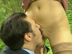 Laure Sainclair is a French Floozy Fucked in The Woods cause she is looking to swallow some goo
