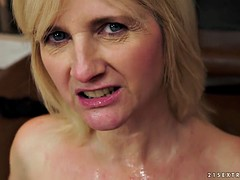 Horny Mommy Filled With Cock