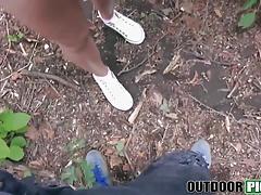 Amazing Lulu Love goes deep in the wood to take it deep