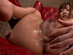 Asian Rio Fujisaki gets both her holes toyed