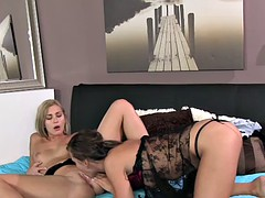 Girlfriends Birthday sex for hot lesbian lovers