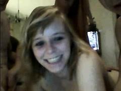 Horny foursome Rebeca live on 720camscom