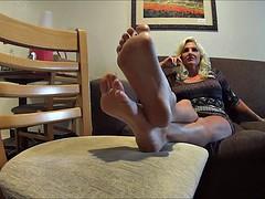Amateur, Rubia, Fetiche de pies, Madres para coger