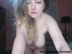Stunning milky white big boob girl dancing infront of camera