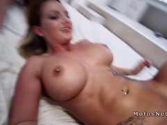 Gfs strap on fucking and sharing dick