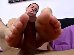 Tim Clark and share their bare feet fetish naked