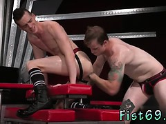 Boys anal fisting gay Tatted hottie Bruce Bang spots Axel Ab