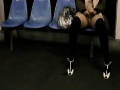 Spy camera follows women around to get some nice upskirt sh