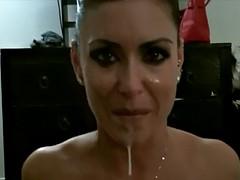 フェラチオ, 茶髪の, イく瞬間, 手コキする, 下着, ポルノスター, ハメ撮り