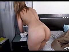 Latina Maid Cleans my Room Naked