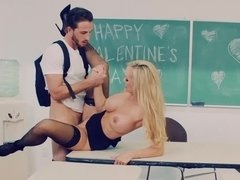 Brandi Love plays the role of naughty teacher that fucks student
