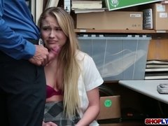 Blonde Alyssa Cole fucked and begs for freedom