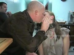 Guys Abuse Whore In Fast Food Spanking The Servant Before Making love Her Roughly
