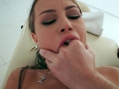 A sexy and lust filled scene plays out on the massage table