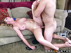 Big tits blonde slut in heat craves a hardcore twat drilling