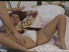 Hot Hungarian Redhead Got Double Penetrated On The Bed