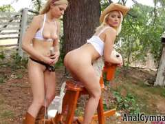 Blondes Anikka Albrite, Zoey Monroe milky ass licking strap-on fuck