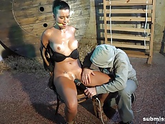 Submissed.com Katie Oliver stripped and machine fucked