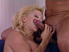 Mature Woman Donna Checks Young Soldier's Skills