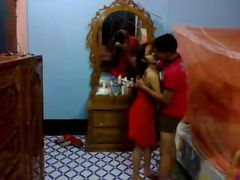 Indian newly wed couple in hotel dick sucking and honey pot eating shy and sexy