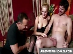 Dutch prostitute gets a cumshot on face