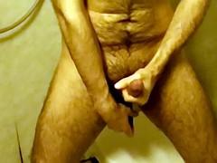 belly bulge deep anal dildo