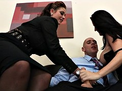 Big Tit Threesome at Work