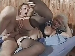 Breasty Shaggy Granny With Young BVR