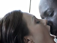 Eurobabe anal fucked with black cock