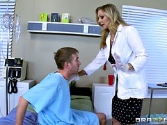 Big tits babe pounded by big cock in pov